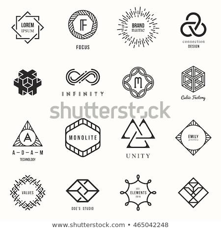 lineart geometric shapes Stock photo © SArts