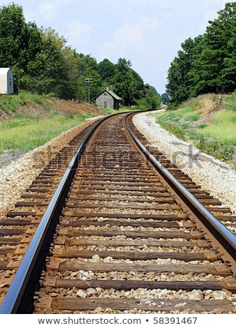Train Tracks Curving into the Distance Stock photo © brianguest