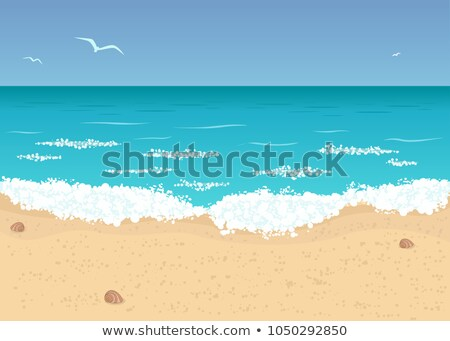 Landscape with deserted sandy beach Stock photo © Mikko