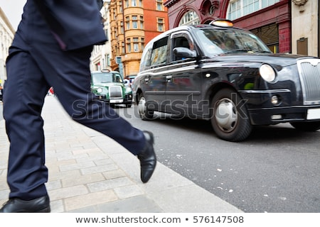 london taxi at oxford street w1 westminster stock photo © lunamarina