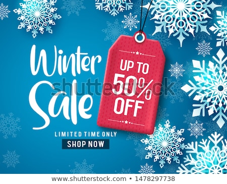 3d illustration. Design template for holiday sale event. red and gray cubes with percents. blured ba Stock photo © tussik
