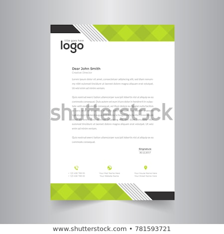 Stylish Briefkopf Design blau wellig Formen Stock foto © SArts