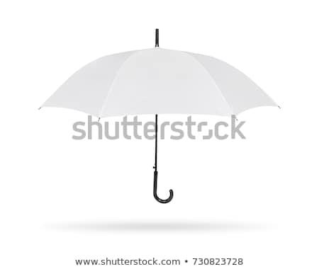 paraguas · aislado · blanco · sol - foto stock © kayros