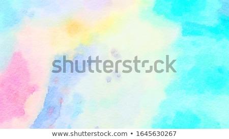şık suluboya leke etki su kâğıt Stok fotoğraf © SArts
