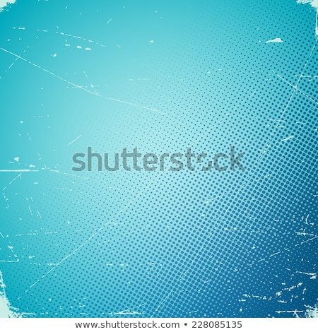 Old scratched card with halftone gradient Stock photo © SwillSkill
