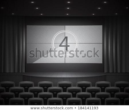 фильма экране обратный отсчет фоны текстуры телевидение Сток-фото © oblachko