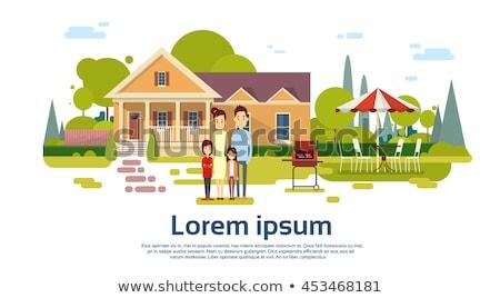 suburbano · casas · ciudad · barrio · grande · casa - foto stock © curiosity