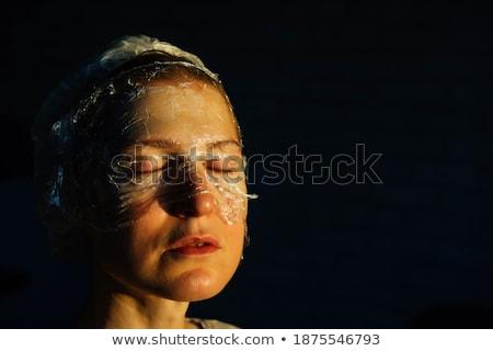 meisje · masker · hoofd · mooi · meisje - stockfoto © nikodzhi