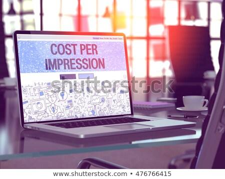 Zdjęcia stock: Kosztować · wrażenie · laptop · ekranu · 3d · ilustracji