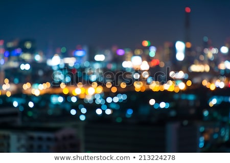 Floue accent grand ville Night City temps Photo stock © tekso