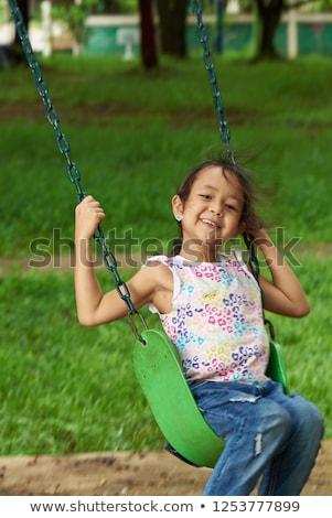 Portré boldog lányok játszik játszótér iskola Stock fotó © wavebreak_media