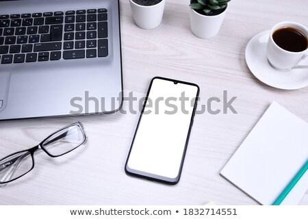tarka · tapadó · jegyzet · fehér · közelkép · beszél - stock fotó © wavebreak_media