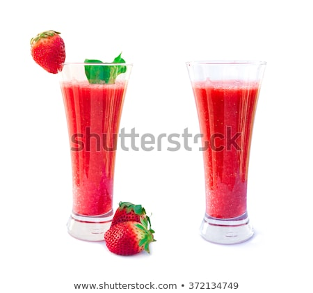 Fraise smoothie cocktail juteuse Berry Photo stock © brulove