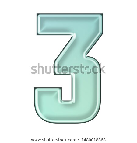 Ice font number 3 THREE 3D Stock photo © djmilic
