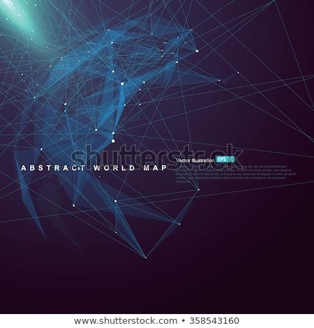 Világtérkép pont Ázsia globális hálózat kapcsolat Stock fotó © pikepicture