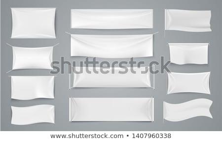 Banners para cima conjunto vertical em pé traçado Foto stock © pakete