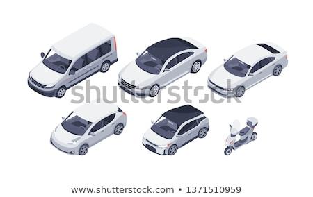 vektör · izometrik · araba · ayarlamak · farklı · araba - stok fotoğraf © genestro