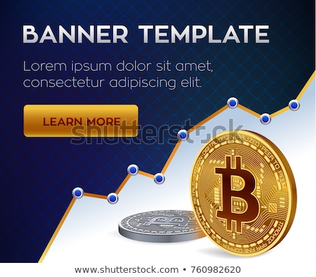 Digitális bitcoin valuta szimbólum vektor terv Stock fotó © SArts