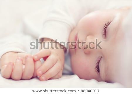 ritratto · bella · dormire · baby · bianco - foto d'archivio © dashapetrenko