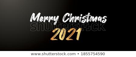 stylish premium christmas greeting design with light effect Stock photo © SArts