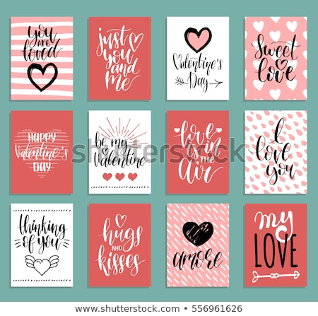 Vector valentine card template Stock photo © orson