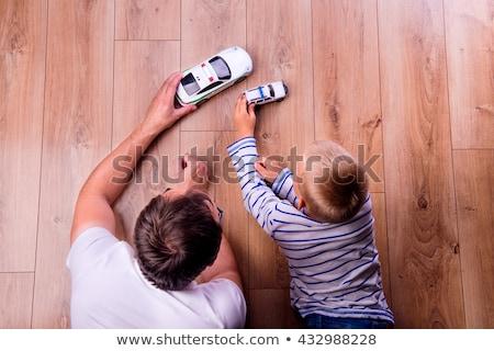 játszik · tűz · három · huncut · fiúk · ház - stock fotó © is2