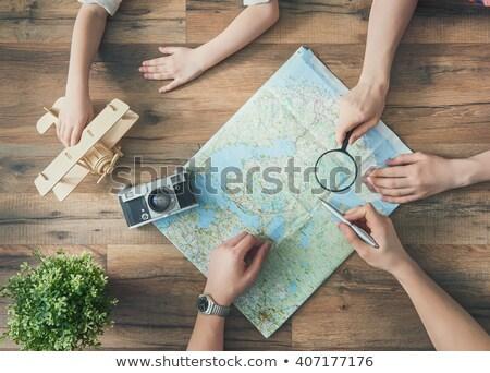 человека женщину изучения карта стены природы Сток-фото © IS2