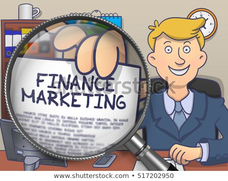 finance marketing through magnifier doodle style stock photo © tashatuvango