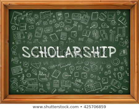 Green Chalkboard with Hand Drawn Scholarship. Stock photo © tashatuvango