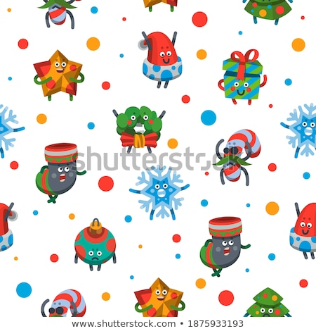 Christmas geschenk sok emoties ingesteld Stockfoto © rogistok