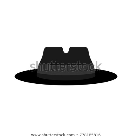 Fedora hat isolated. Detective hat. Cap spy. Vector illustration Stock photo © popaukropa