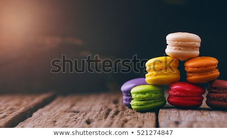 french macaroon on wood background Stock photo © M-studio