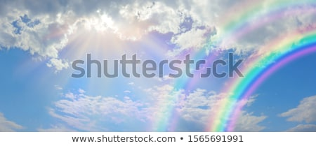 rainbow light from above background Stock photo © romvo