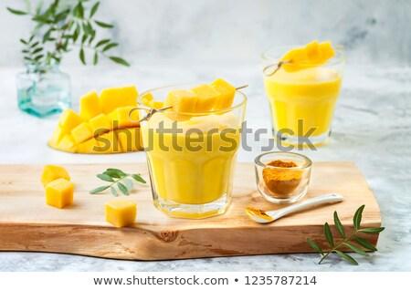 Mango Smoothie / Lassi Stock photo © BarbaraNeveu