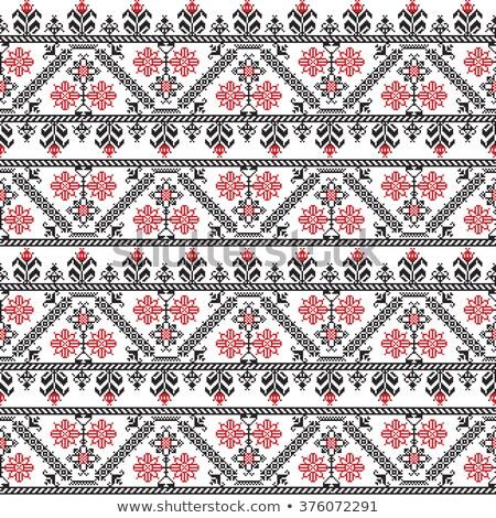 Eastern European embroidery Stock photo © CsDeli