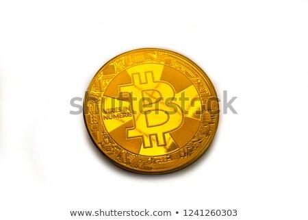 Bitcoin coin photo close-up. Crypto currency, blockchain technology Stock photo © m_pavlov
