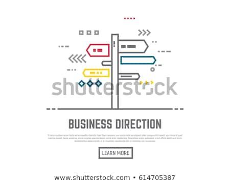 Success street sign. Line Illustrator. Stock photo © alexmillos