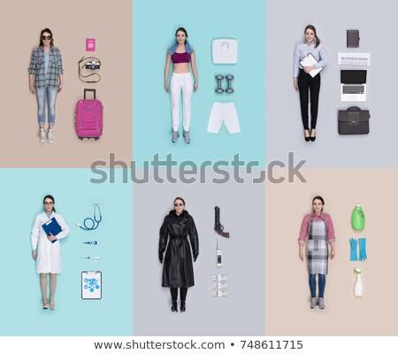 Lifelike female spy agent doll Stock photo © stokkete