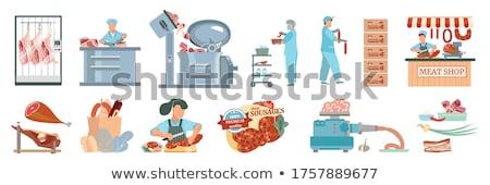 Worstjes vlees fabriek business vrouw Stockfoto © wavebreak_media
