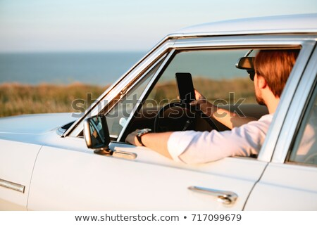 businessman using his smartphone in a car stock photo © nito