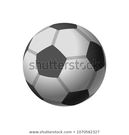 Football icon, soccerball, isolated on white backgriund, vector illustration. Stock photo © ikopylov