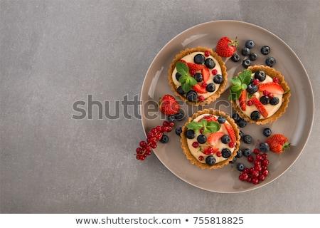 meyve · pasta · tatlı · yaz · çilek · öğle · yemeği - stok fotoğraf © m-studio