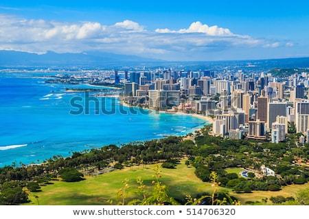 Honolulu · Hawaii · panorámakép · kilátás · gyémánt · fej - stock fotó © dirkr