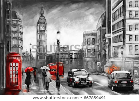 Couple in London taxi, Big Ben in view Stock photo © IS2