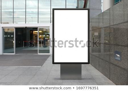 Utca másolat központ kéz dolgozik érintőképernyő Stock fotó © georgemuresan