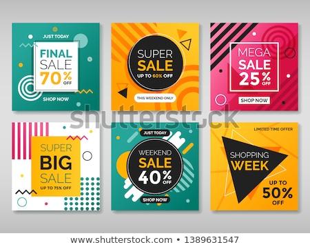 Modern promotion square web banner Fashion Season, for social media mobile apps. Elegant promo banne Stock photo © ikopylov