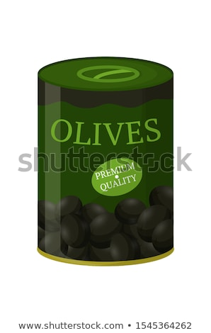 A Can of Black Olive Stock photo © bluering