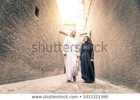 Arab oude vrouwen achtergrond communicatie ballon Stockfoto © toyotoyo