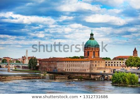 Szpitala la grobu wody kościoła niebieski Zdjęcia stock © benkrut