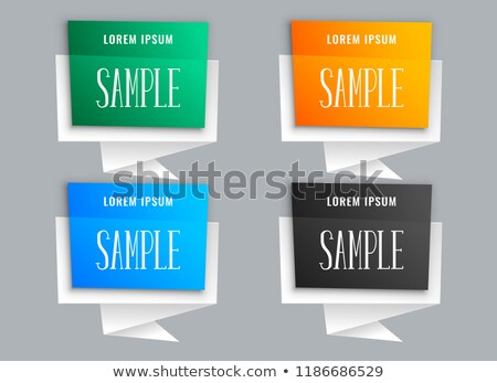 origami style chat bubbles in many colors Stock photo © SArts